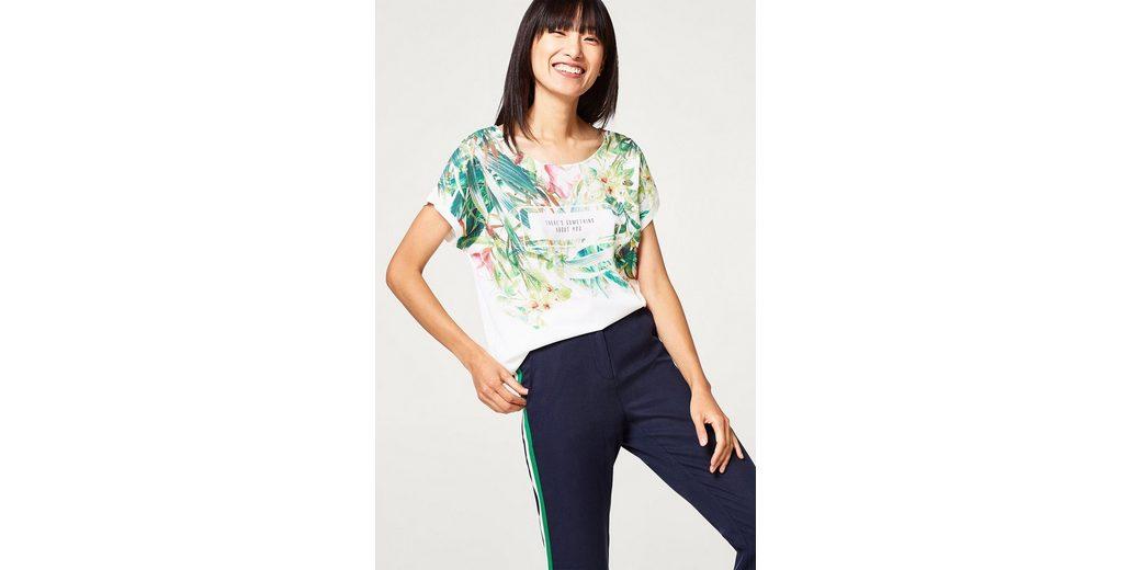 ESPRIT Leichtes Blusen-Shirt aus Material-Mix mit Print Der Günstigste Günstige Preis Billig Verkauf Footlocker Bilder ECMN2yKAl