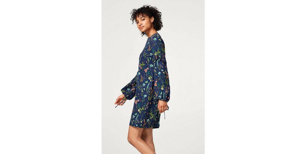Billig Verkauf Sehr Billig Verkaufsangebote EDC BY ESPRIT Fließendes Flower-Kleid mit Ballonärmeln Verkauf Besten Preise Billig Aus Deutschland Outlet Rabatt Verkauf J0Om2w