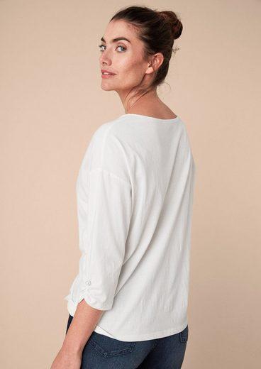 TRIANGLE Shirt mit gerafften Ärmeln