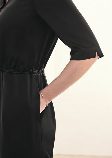 TRIANGLE Blusenkleid aus Crêpe-Satin