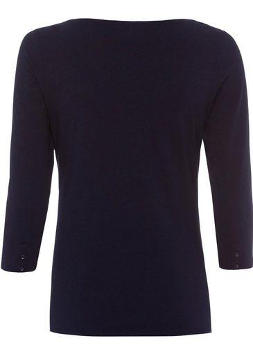 ESPRIT Langarmshirt, mit herzförmigem Ausschnitt