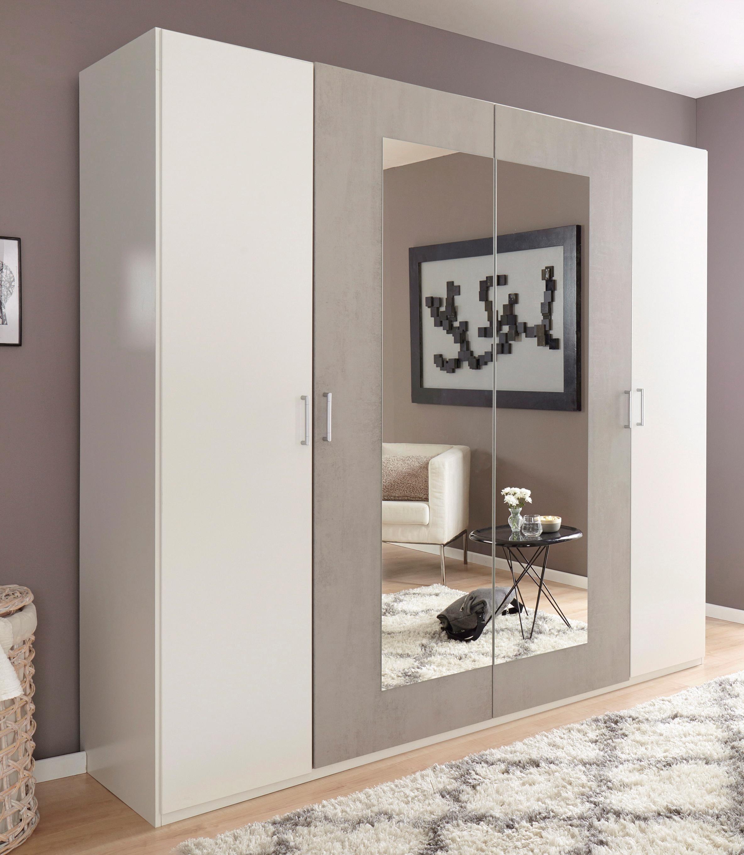 Wimex Kleiderschrank mit Spiegeltüren | Schlafzimmer > Kleiderschränke > Drehtürenschränke | Leinen | Wimex