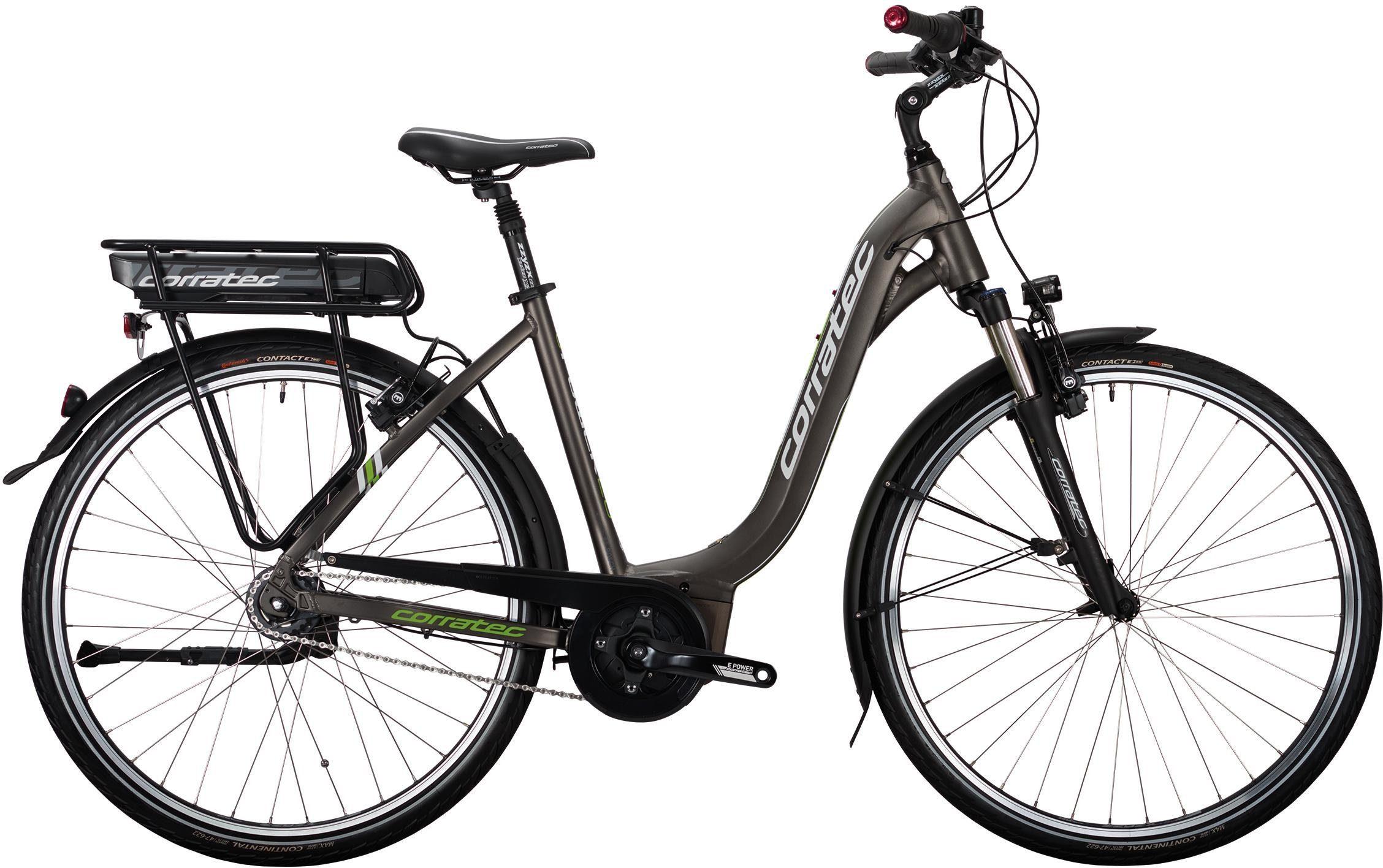 corratec E-Bike »E-Power 28 Active 8s Lady Wave«, 8 Gang, Nabenschaltung, Mittelmotor 250 W