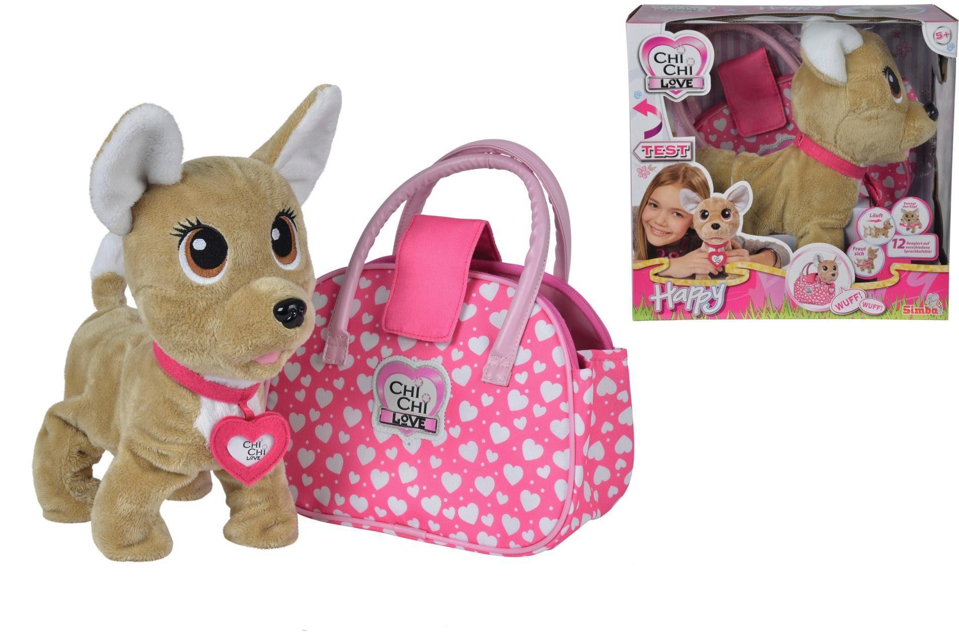 Simba Stofftier mit Tasche, »Chi Chi Love, Chihuahua Plüschhund Happy«