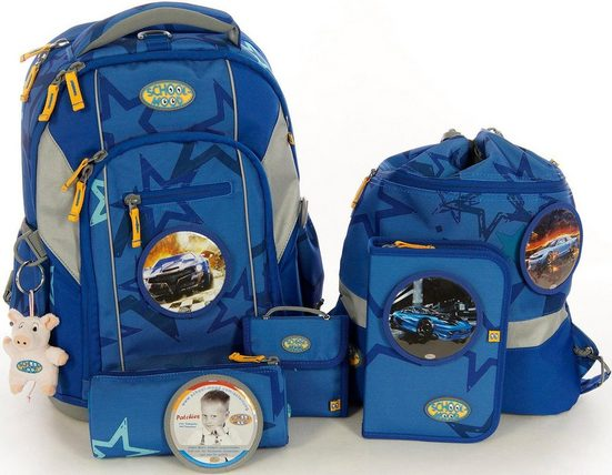 School-Mood Schulrucksack Set, 7-tlg., »Loop Logan«