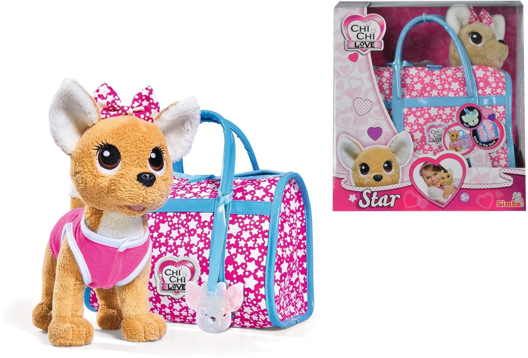 Simba Stofftier mit Tasche, »Chi Chi Love, Chihuahua Plüschhund Star«