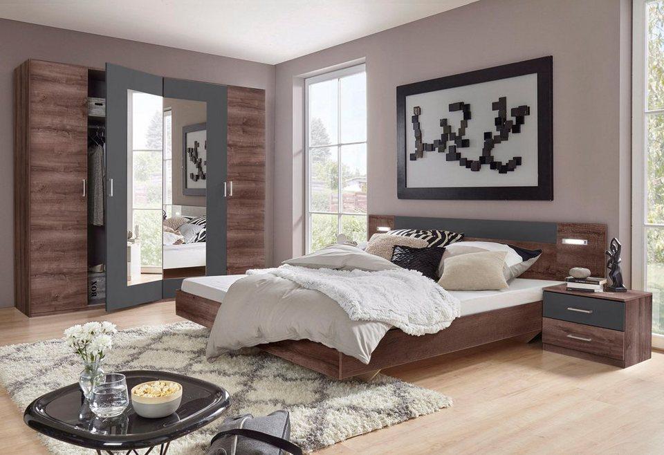 Wimex Schlafzimmer-Set »Angie«, 4-teilig, Set aus Schrank, Bett und 2  Nachttischen online kaufen | OTTO