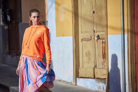 Marc O'Polo DENIM Kapuzensweatshirt, in cooler Neonfarbe