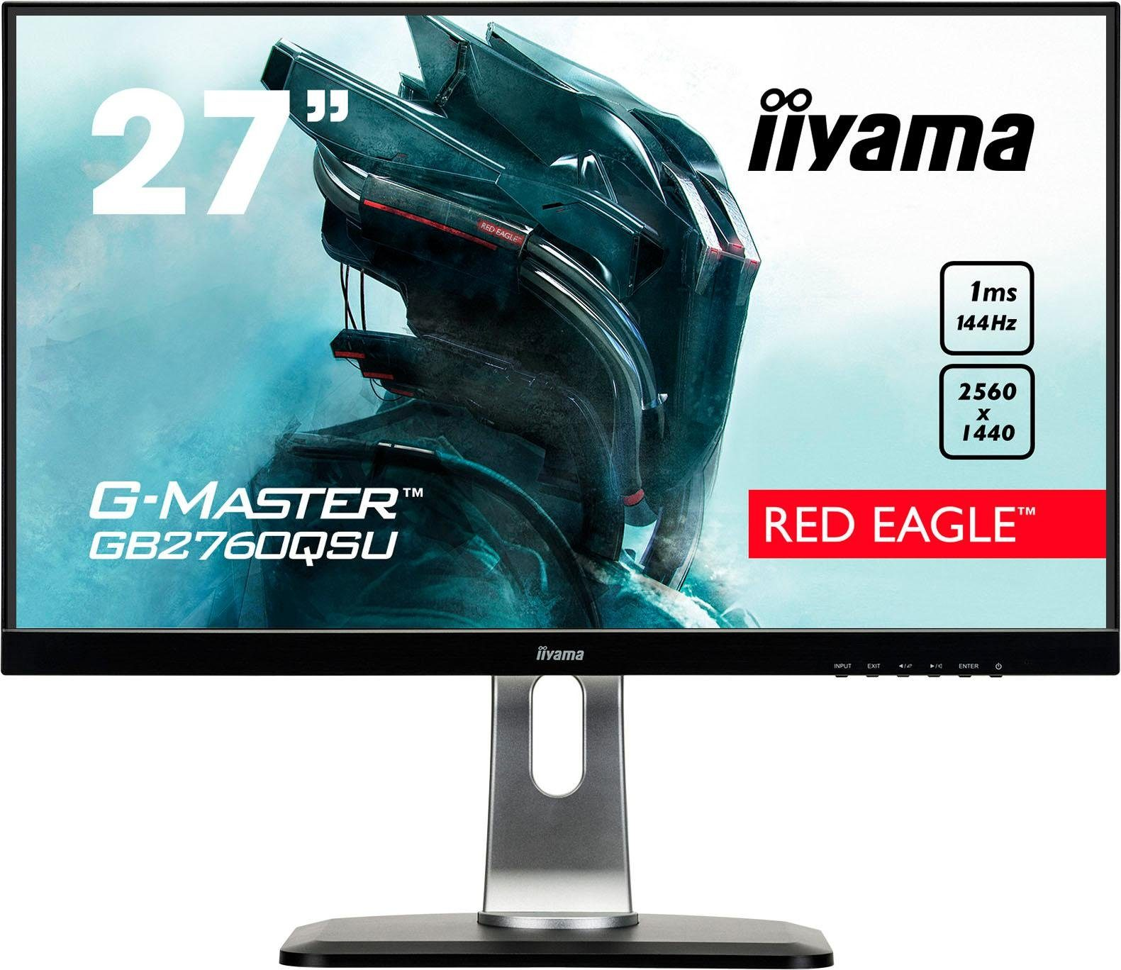 Iiyama GB2760QSU-B1 Gaming-LED-Monitor (2560 x 1440 Pixel, WQHD, 1 ms Reaktionszeit, 144 Hz)