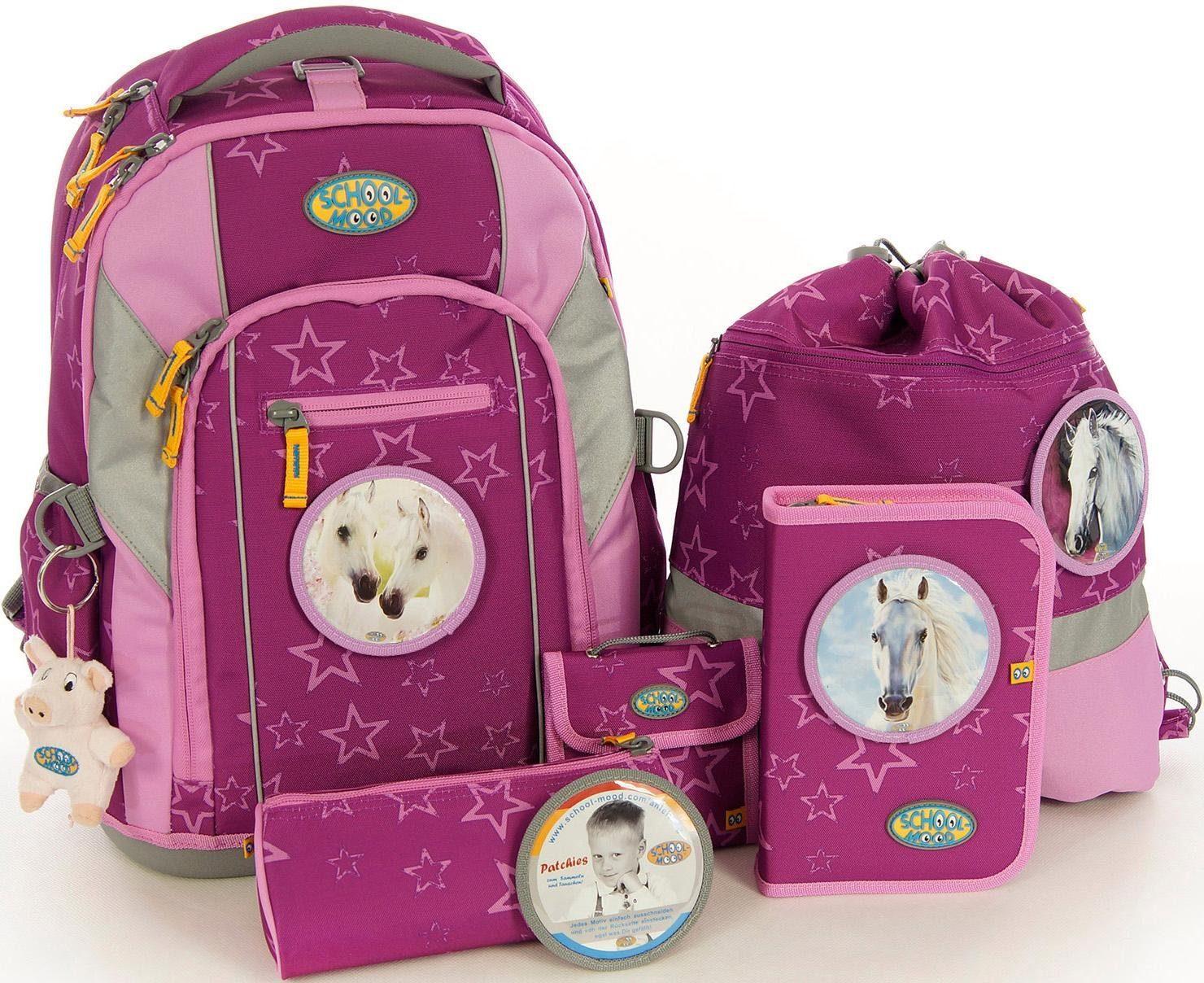 School-Mood Schulrucksack Set, 7-tlg., »Loop Olivia«