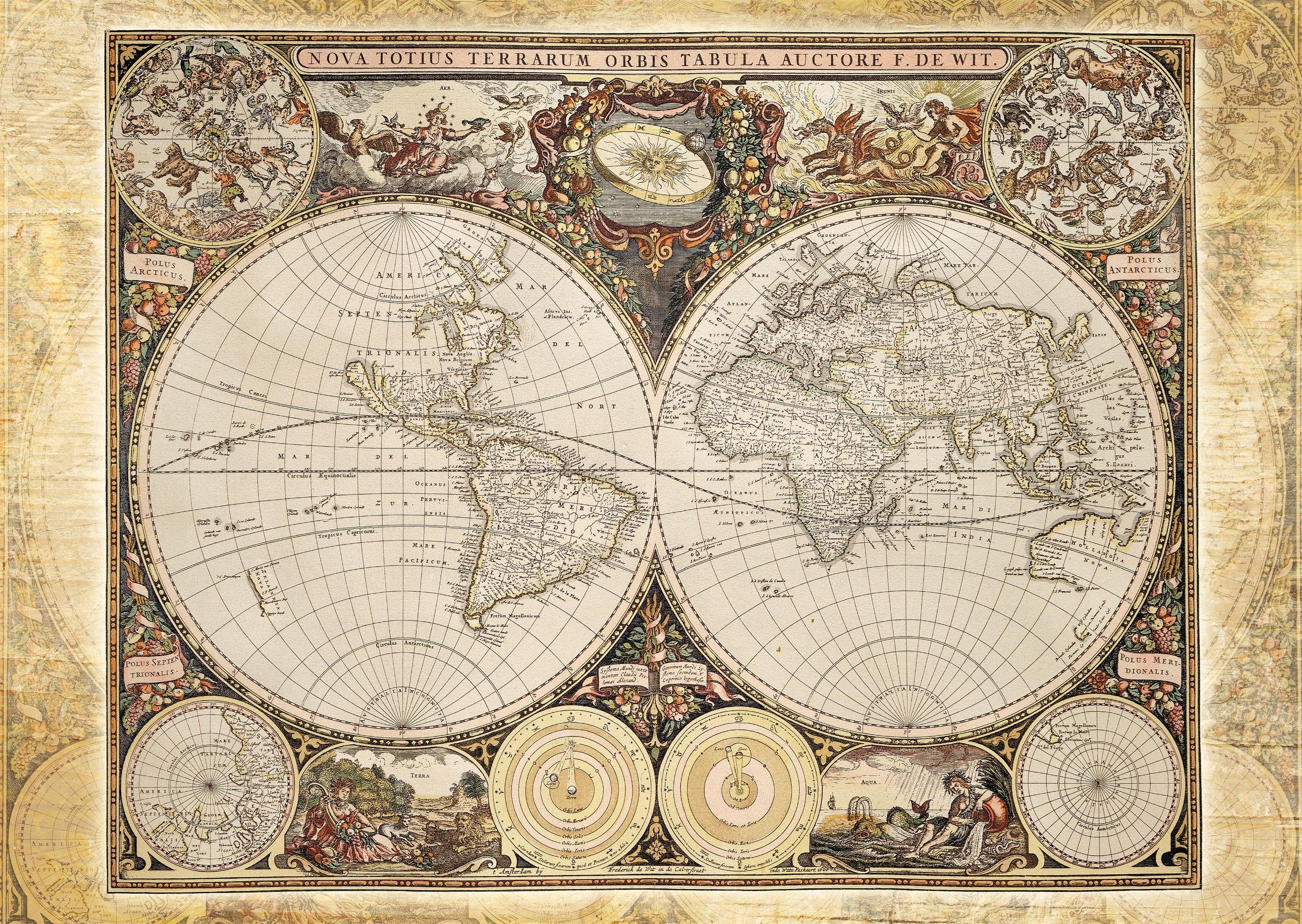 Schmidt Spiele Puzzle mit 2000 Teilen, »Historische Weltkarte«