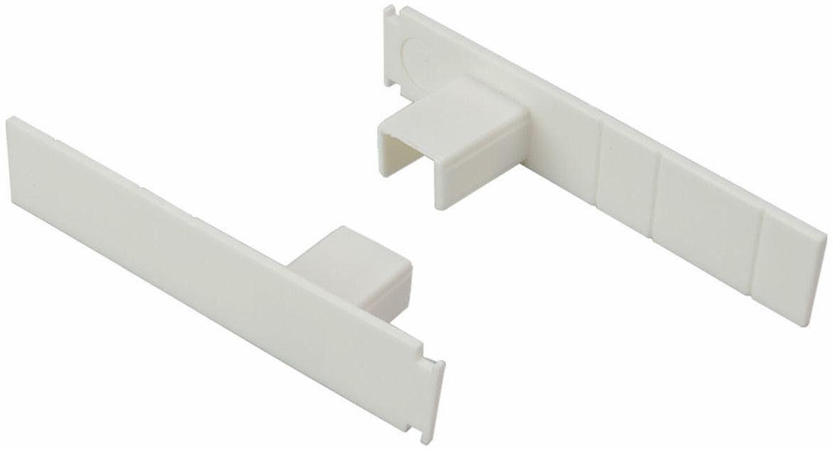 Seitendeckel, Liedeco, für 1-3-läufige Gardinenschienen (2 Stück)