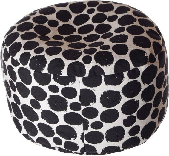 Home affaire Pouf »Punkte«, 47/34 cm