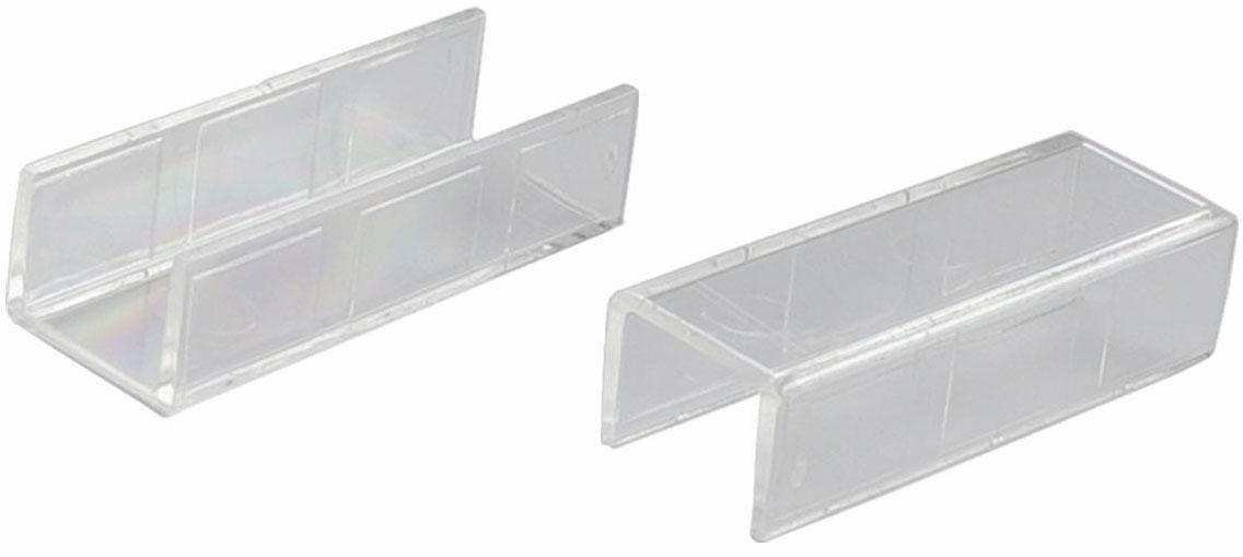 Verbinder, Liedeco, für 1-3-läufige Gardinenschienen (2 Stück)