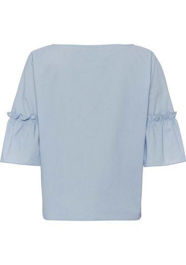 ESPRIT Shirtbluse, mit Zierapplikation an den Ärmeln