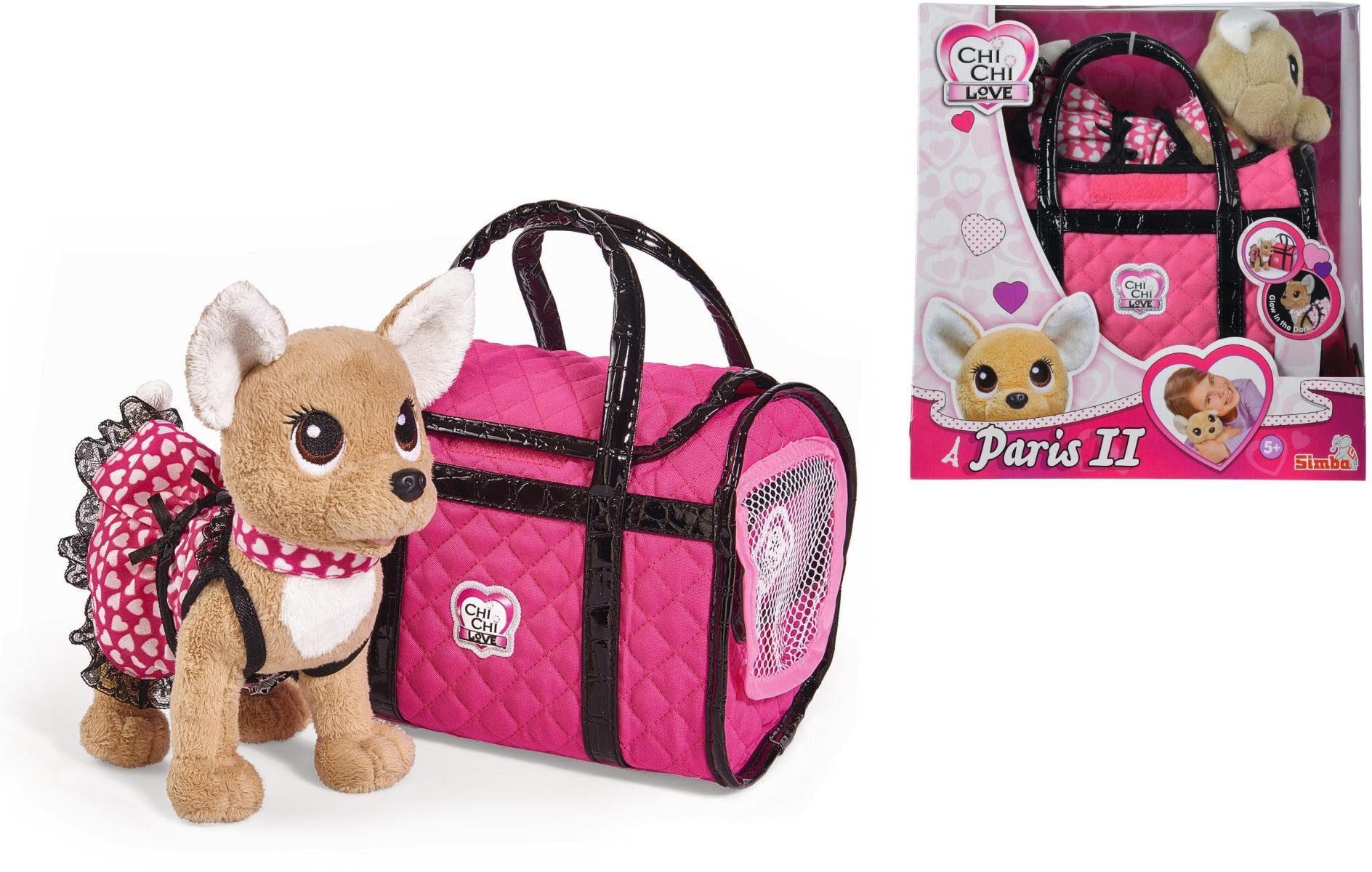 Simba Stofftier mit Tasche, »Chi Chi Love, Chihuahua Plüschhund Paris II«
