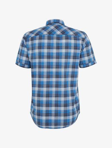 Tom Tailor Kurzarmhemd kariertes Kurzarmhemd mit Brusttasche