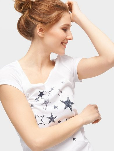 Tom Tailor Denim T-Shirt T-Shirt mit Print-Motiv