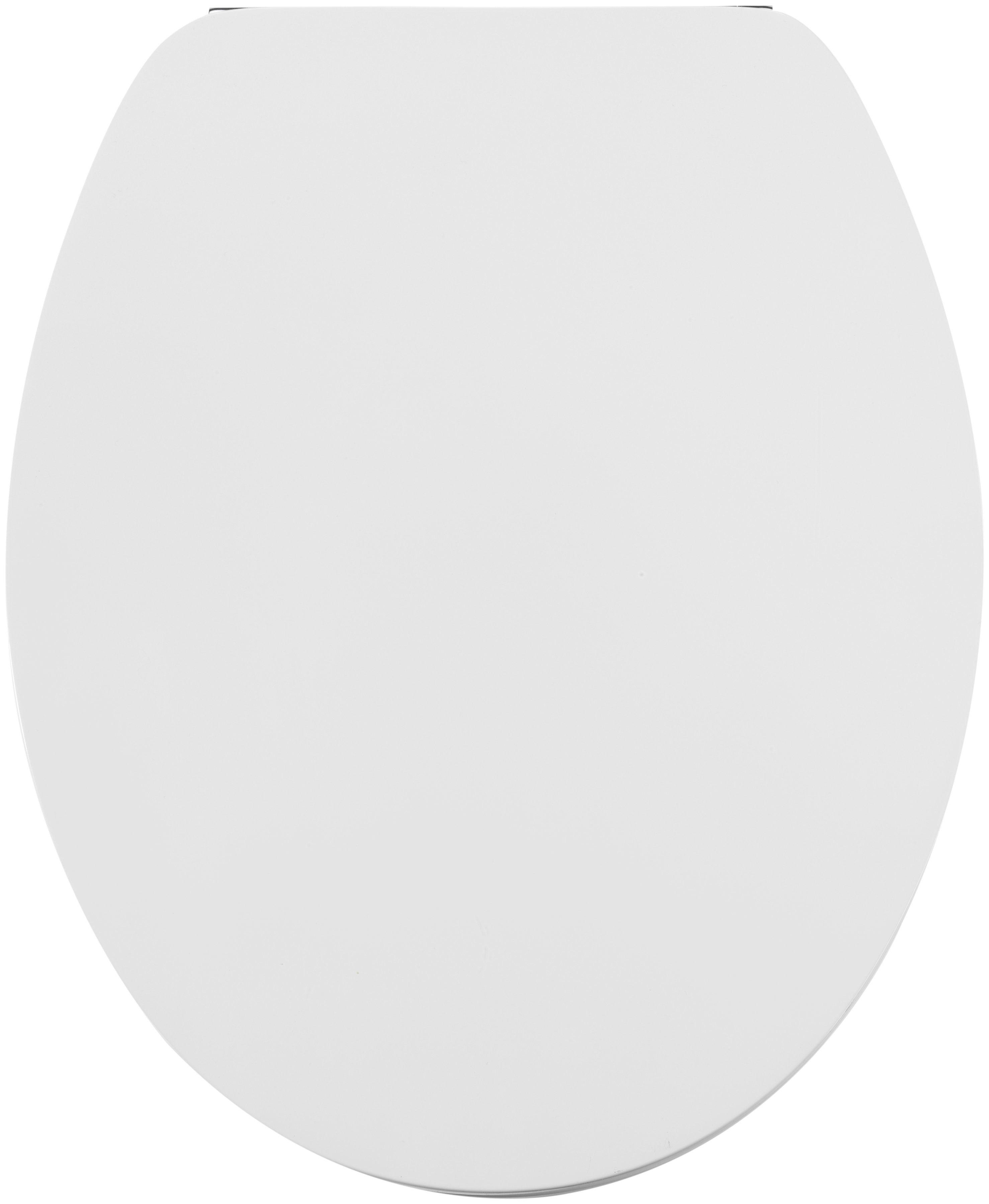 WC-Sitz »MDF weiß hochglanz lackiert«, Toilettensitz mit Absenkautomatik