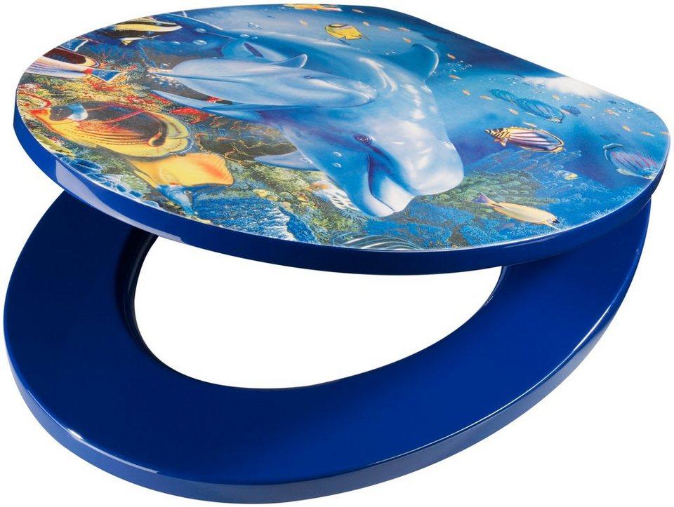 wc sitz mdf delfin toilettensitz mit absenkautomatik online kaufen otto. Black Bedroom Furniture Sets. Home Design Ideas