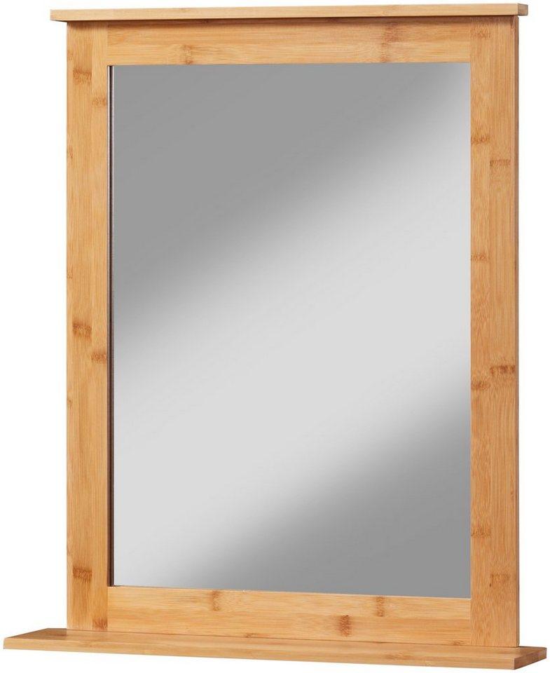 konifera badspiegel bambus new wandspiegel 54 58 cm. Black Bedroom Furniture Sets. Home Design Ideas