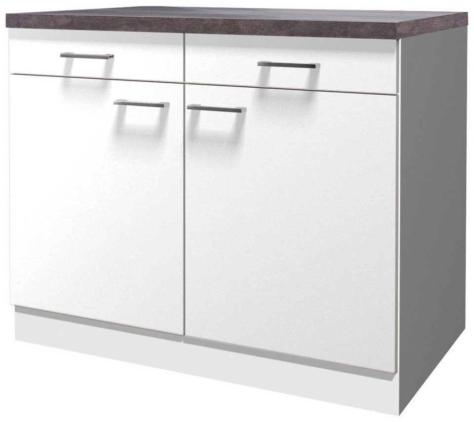 k chenunterschrank lucca breite 100 cm kaufen otto. Black Bedroom Furniture Sets. Home Design Ideas