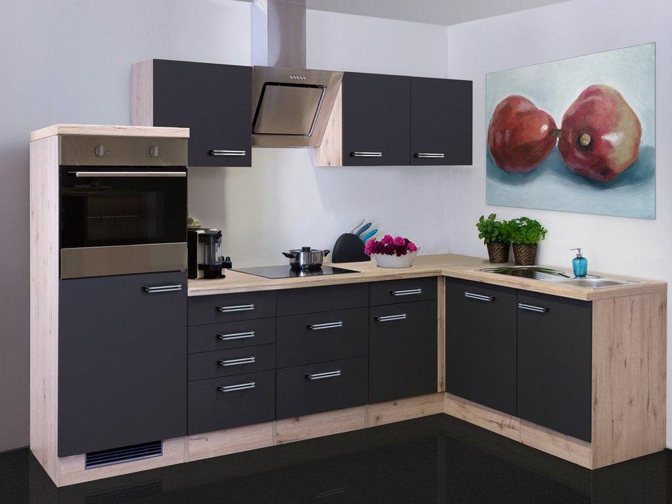 Küchenzeile mit E-Geräten »Antigua«, Gesamtbreite 280x170 ...