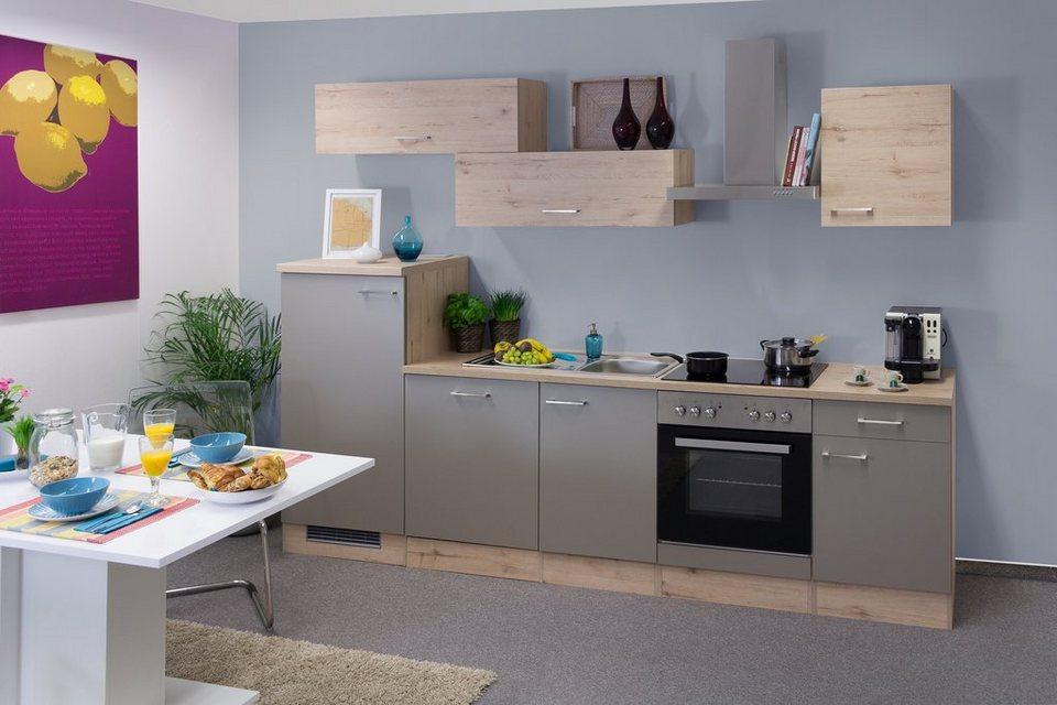 k chenzeile mit e ger ten riva gesamtbreite 280 cm. Black Bedroom Furniture Sets. Home Design Ideas