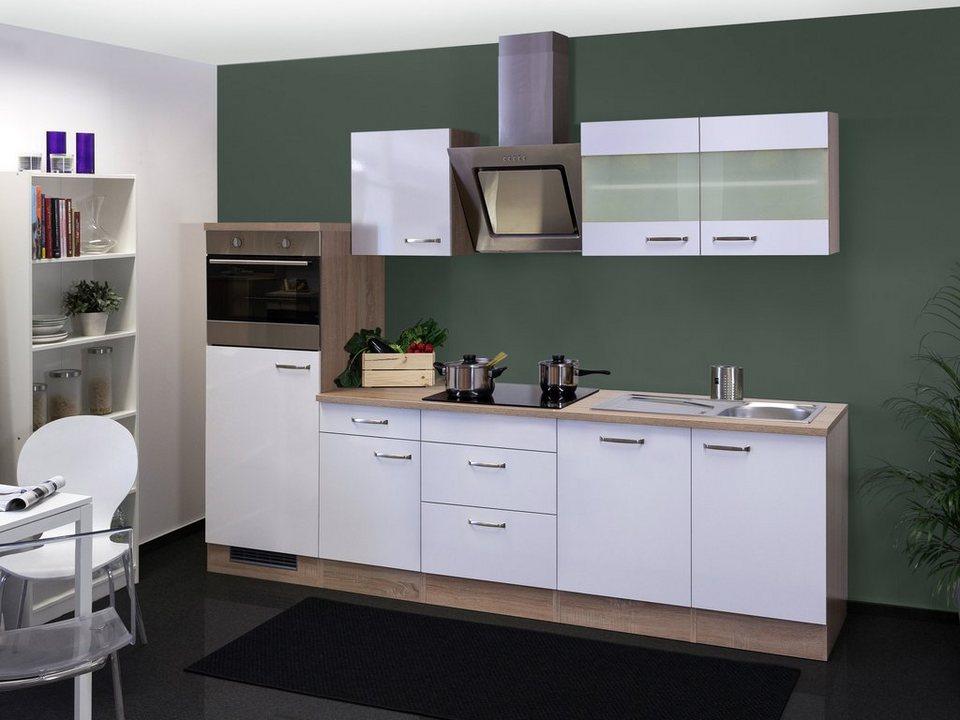 k chenzeile mit e ger ten valero gesamtbreite 280 cm. Black Bedroom Furniture Sets. Home Design Ideas