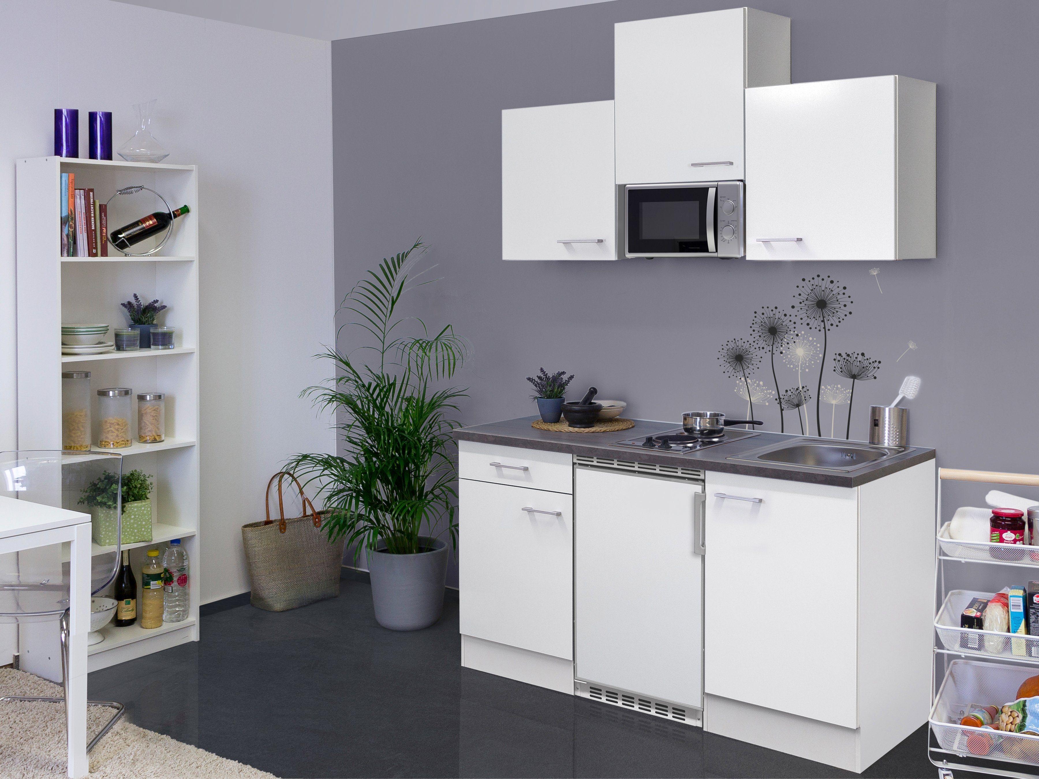 Küchenzeile mit E-Geräten »Lucca«, Gesamtbreite 150 cm
