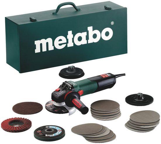 METABO Winkelschleifer »WEV 15-125 Quick Inox Set«