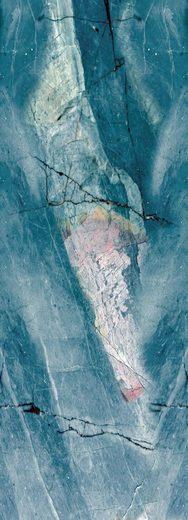 QUEENCE Vinyltapete »Marmor-Blau«, 90 x 250 cm, selbstklebend