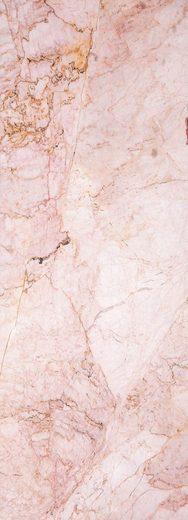 QUEENCE Vinyltapete »Marmor-Rosa«, 90 x 250 cm, selbstklebend