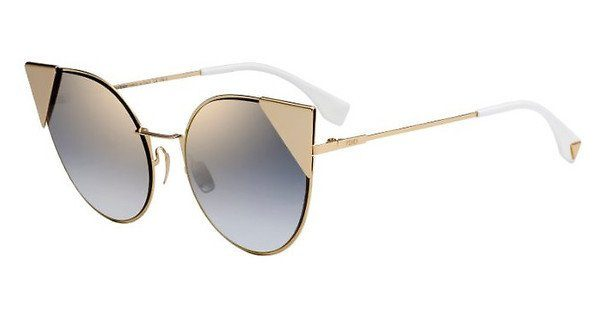FENDI Fendi Damen Sonnenbrille » FF 0190/S«, silberfarben, 010/OM - silber/lila