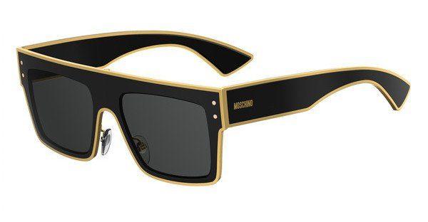 Moschino Damen Sonnenbrille » MOS001/S«, schwarz, 807/IR - schwarz/grau
