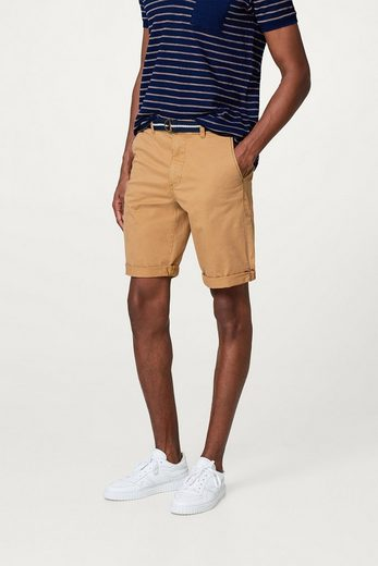 ESPRIT Stretch-Shorts aus Baumwolle, mit Web-Gürtel