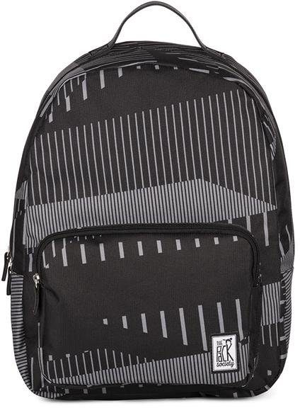 The Pack Society Rucksack mit 15-Zoll Laptopfach, »Backpack Cool Prints, Black Stripe Allover«