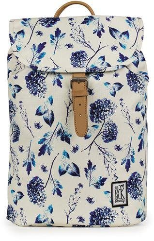 The Pack Society Rucksack, »Small Backpack Cool Prints, Off White Blue Flower Allover«
