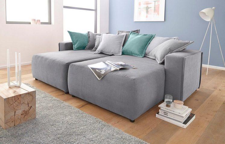 INOSIGN Sofa »Gina«, im XXL-Format mit farbigen Wendekissen