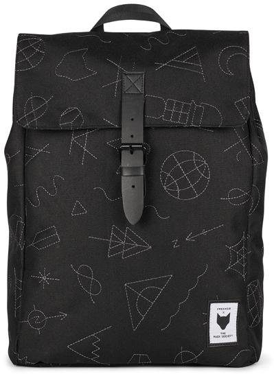 The Pack Society Rucksack mit Laptopfach, »Collaboration Square Backpack, black with grey«