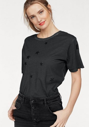 Replay T-Shirt mit Sternenflock