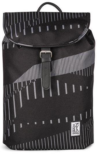 The Pack Society Rucksack, »Small Backpack Cool Prints, Black Stripe Allover«