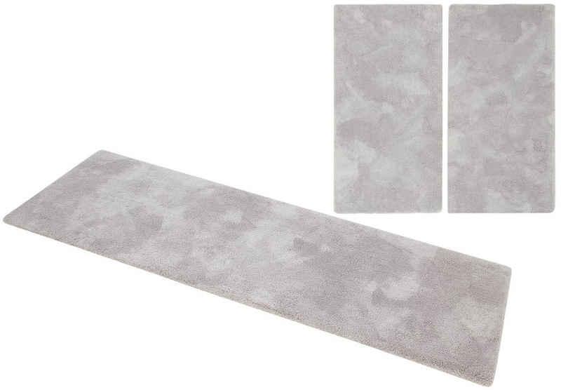 Hochflor-Bettumrandung »Magong« my home, Höhe 32 mm, (3-tlg), besonders weich durch Microfaser