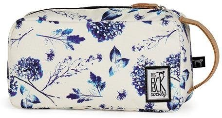 The Pack Society Kulturbeutel, »Multicase Cool Prints, Off White Blue Flower Allover«