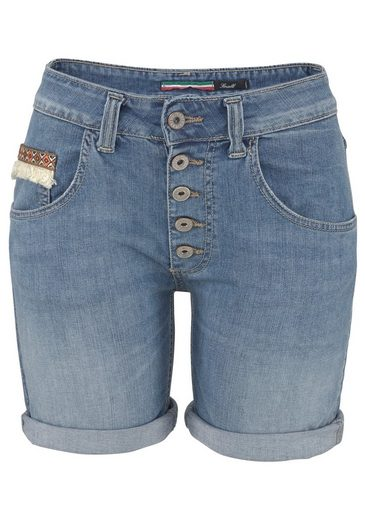 Please Jeans Jeansshorts »P88A« mit Ethno-Detail