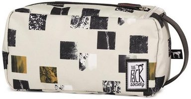 The Pack Society Kulturbeutel »Multicase Cool Prints, Beige Blocks Allover«