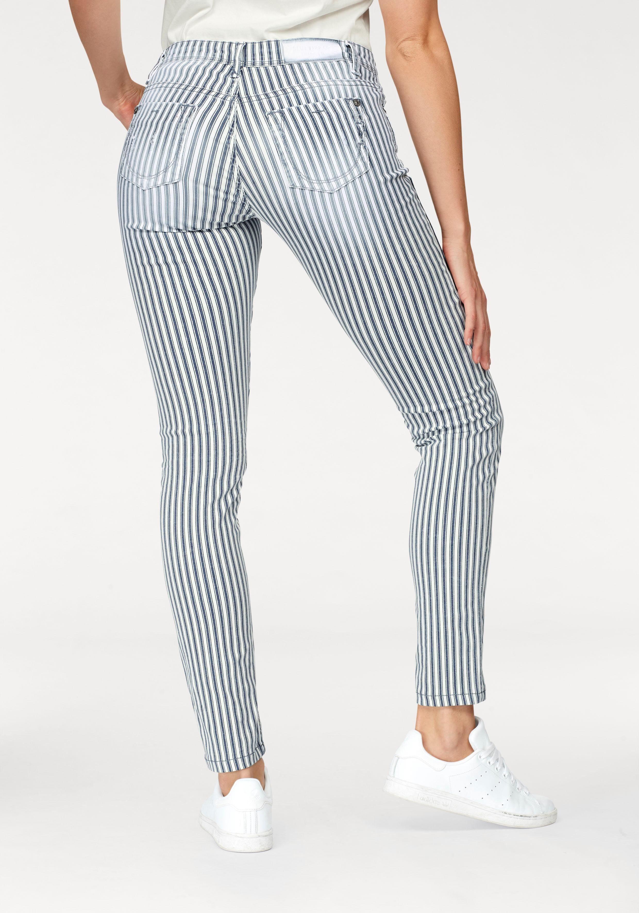 BLUE FIRE Skinny fit Jeans »CHLOE« im modischen Streifen Look