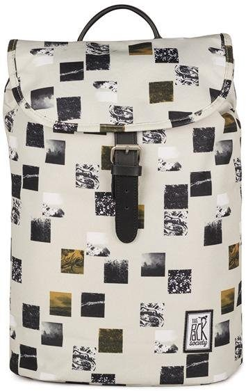 The Pack Society Rucksack, »Small Backpack Cool Prints, Beige Blocks Allover«