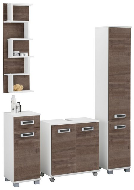 Badezimmer Sets - Badmöbel Set »Kos«, (Set, 4 tlg), Türanschlag wechselbar  - Onlineshop OTTO