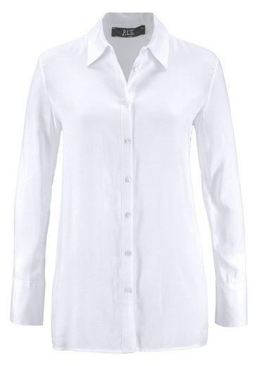 Please Jeans Hemdbluse, mit Rüschen-Ärmel